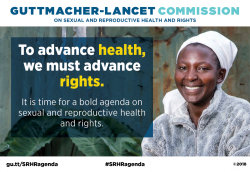 Graphic that reads, to advance health, we must advance rights