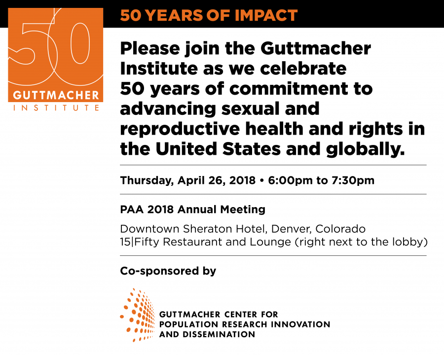Guttmacher 50th anniversary celebration invitation